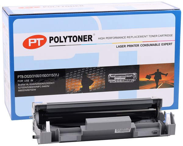Brother Poly Drum Unit (DR-520)(DR-3115)HL5240-5250DN-5270DN ,MFC-8460N-8870-20P